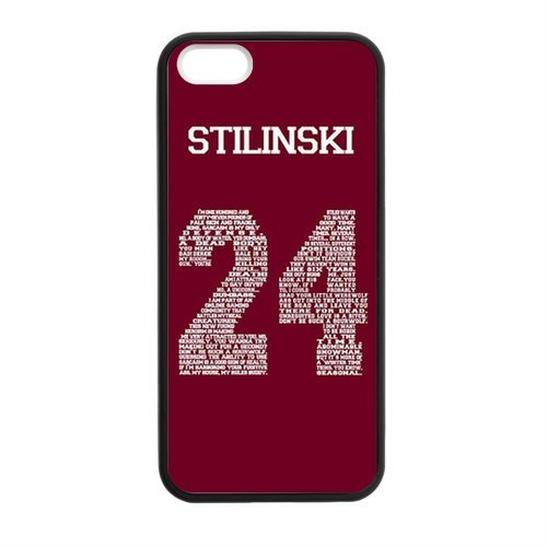 Perfect life store Teen Wolf Genim Stilinski 24 on Black Rubber case for iphone 5/5s (Case Ipod Nike 5)
