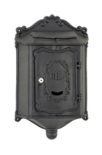 Amco Mailboxes WM-209BCT Colonial Aluminum Wallmount Mailbox, Black by Amco Mailboxes