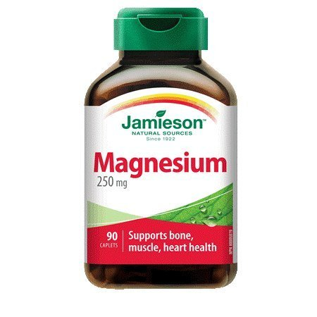 High Potency Magnesium 250 mg-90 caplets Brand: Jamieson - 250 Caplets Magnesium Mg