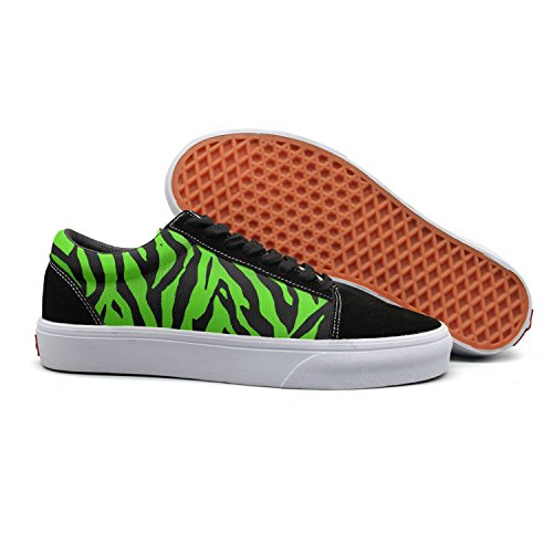 Cloth Low Stripes for Printed Animal Green Womens Women's Deck Shoes Shoes Canvas Top Cute 0pqxAwCxvZ