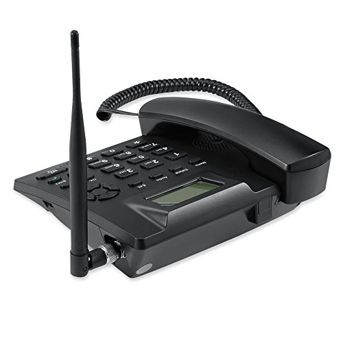 Topsma GSM Wireless Quadband Telephones,Cordless Fixed Telephones for Home  and Office,Rechargable Bettery,SMS Support,2 SIM Card slots Wireless Phones