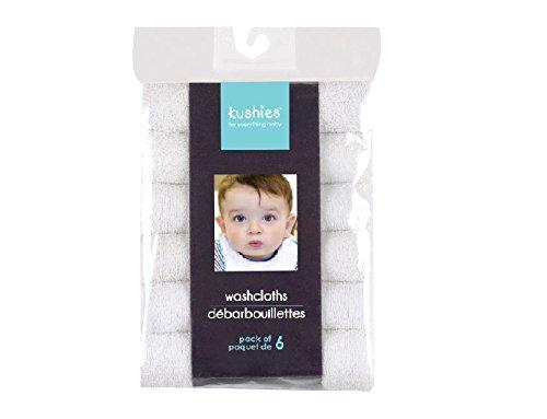 Kushies Pack Wash Cloth White