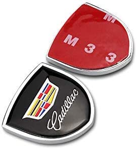 Cadillac B 2 Pcs Metal Decorative Logo shield Refit Logo Shield Car Logo shield badge sticker For