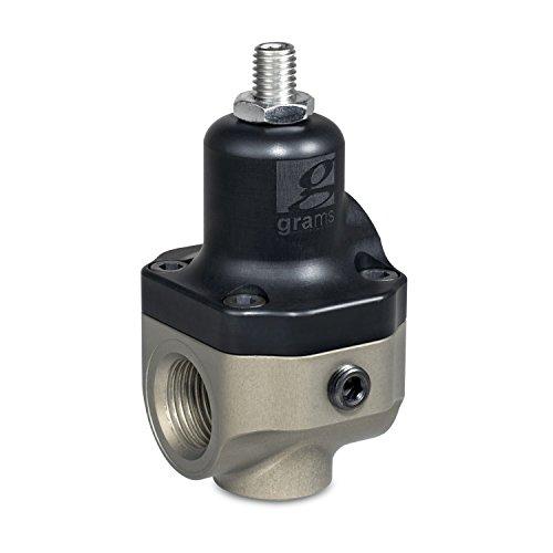 (Grams Performance and Design G60-99-0000 Fuel Pressure Regulator 35-112 psi./2.41-7.72 Bar Compatible w/Gasoline/E85 2-Port EFI 1/8 in. NPT Gauge Port For Fuel Injection Fuel Pressure Regulator)