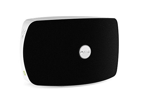 Pure Jongo T2 Wireless Speaker with Wi-Fi and Bluetooth, Piano Black/White