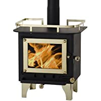 CUBIC Cub Mini Wood Stove - CB-1008 (Black/Brass)