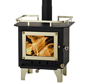 cubic cub mini wood stove cb 1008 black brass home kitchen. Black Bedroom Furniture Sets. Home Design Ideas