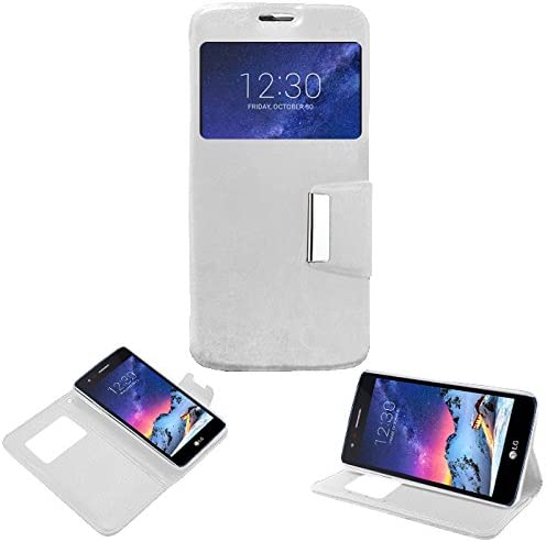 Donkeyphone - Flip Cover Blanca para LG K8 2017 Funda con Ventana ...