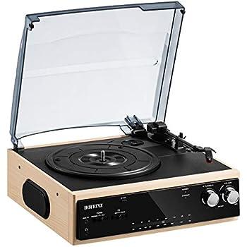 Amazon.com: Reproductor de discos de vinilo portátil con ...