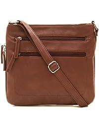 Women's Expandable Multi-Pocket, Adjustable Strap Crossbody Bag for Work, Leisure, Travel