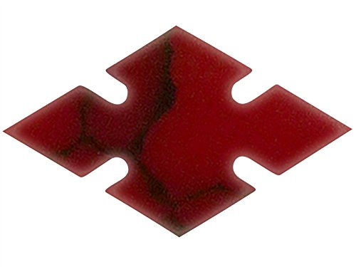 (Incudo Precision IP001899 10mm Notched Diamond Inlays - Bloody Basin Jasper (Pack of 10))