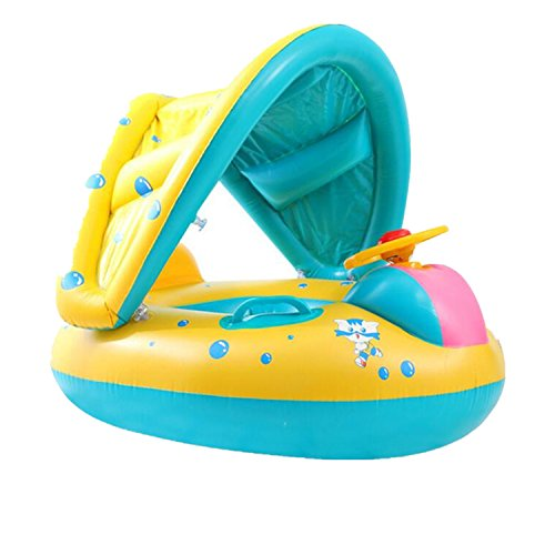 Fish Float Sunshade Baby Swimming Inflatable Pool Boat | Baby Floaties