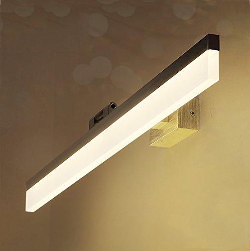 Yilian BIDENG LED Mirror Front Light Bathroom Mirror Cabinet Mirror Light Bathroom Makeup Dresser Toilet Toilet Mirror Lamp (Color : White Light, Size : 50cm) ()