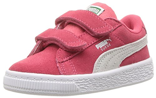 PUMA Baby Suede Classic Velcro Kids Sneaker, Paradise Pink White, 5 M US Toddler