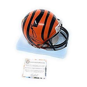 AJ Green Cincinnati Bengals Signed Autograph Mini Helmet Schwartz Sports Certified