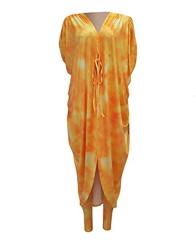 Lungo Giallo Skinny Tops Up Stampa Completi Alta Cover Up Pantaloni Push Cardigan Leggings Donna Vita w4f6EqxSn
