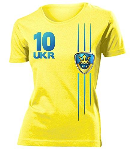 coppa del Mondo - Campionati Europei UKRAINE mujer camiseta Tamaño S to XXL varios colores Amarillo