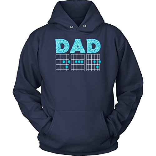 (NeatFind.net DAD Guitar Chord Cool Funny Awesome Guitarist Unisex Hoodie Navy)