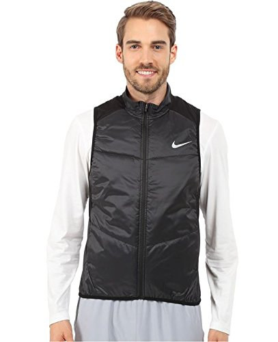 Men's Nike Polyfill Running Vest Black/Reflective Silver Size Large