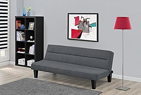 Attractive NEW Kebo Futon Sofa Bed, Multiple Colors (Charcoal)