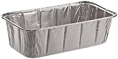 SafePro Foil Loaf Pan, 2 lb. (Case of 100), Baking Foil Pans Disposable