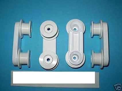 Genuine Zanussi - Ruedas con soporte para lavavajillas, 4 unidades ...