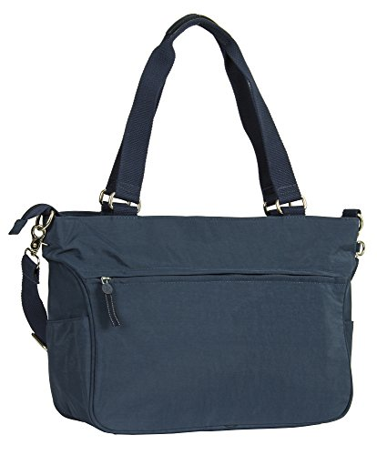 Design Fabric Tote Shoulder Bag Handbag Shopping Large 1 Handle Shop Big Rainproof Size Top Navy Large IOHqwTc8x