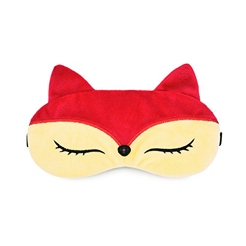 Zabrina Funny Creative Animated Cartoon Red Fox Eye mask Red Sleep Mask Owl Eey Mask Ice Pack Patch for Hot & Cold Therapy Light Shading Cover, Fox (Funny Ice)