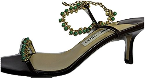 Jimmy Choo DINA Brown Kid Leather Beaded Sandal's clearance original discount largest supplier cheap sale from china nmmlvWioy