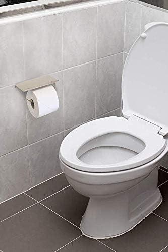 /Étag/ère murale spacieuse et salle de bain Porte-rouleau de papier toilette en acier inoxydable