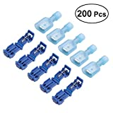 BESTOMZ Quick Splice Electrical Wire Terminals with Male Spade Connectors Set Blue Pack of 200