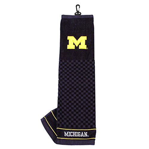 Michigan Wolverines Embroidered Towel - University of Michigan Embroidered Golf Towel