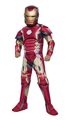 UHC Boy's Iron Man Mark 43 Outfit Funny Theme Fancy Dress Child Costume