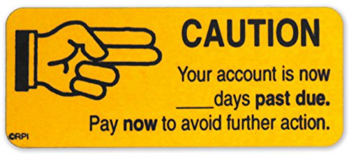 """Caution""AR Fluorescent Orange Accounts Receivable Collection Stickers | 250 Labels per Dispenser Box | 1"" x 2-1/4"" | Permanent Adhesive"