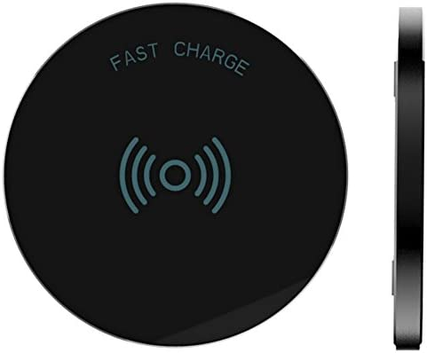 8, Plus, X, XR, XS, Max Black S9, Plus, S8, Plus, Note Samsung Galaxy Rnds Fast Charge Wireless Charging Pad for Apple iPhone LG and Other Qi Enabled Devices