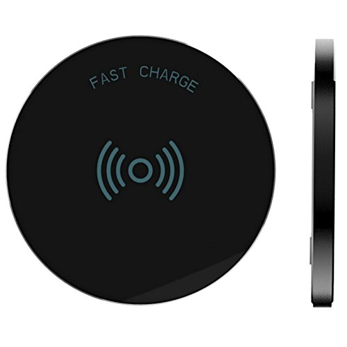 RNDs Fast Charge Wireless Charging Pad for Apple iPhone (8, 8 Plus, X, XR, XS, XS Max), Samsung Galaxy (S9, S9 Plus, S8, S8 Plus, Note), LG and Other QI Enabled Devices (Black)