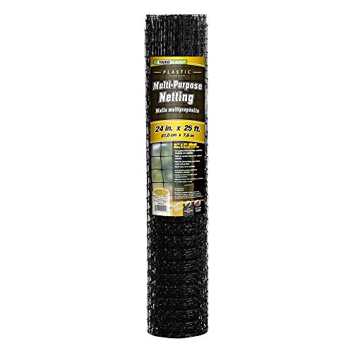 - YARDGARD 889522A 1.25 Inch by 1 Inch Mesh, 2 Foot by 25 Foot Black Plastic Multi-Purpose Netting Fence