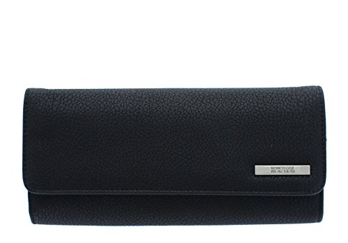 Kenneth Cole Zipper Wallet (Kenneth Cole Reaction Women's Tri Me A River Wallet Organizer (PEBBLE BLACK))