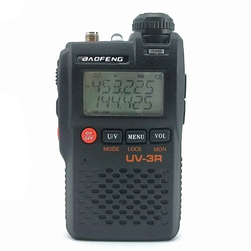 BaoFeng UV-3R 136-174/400-470 MHz Dual-Band Ham Radio (Black)