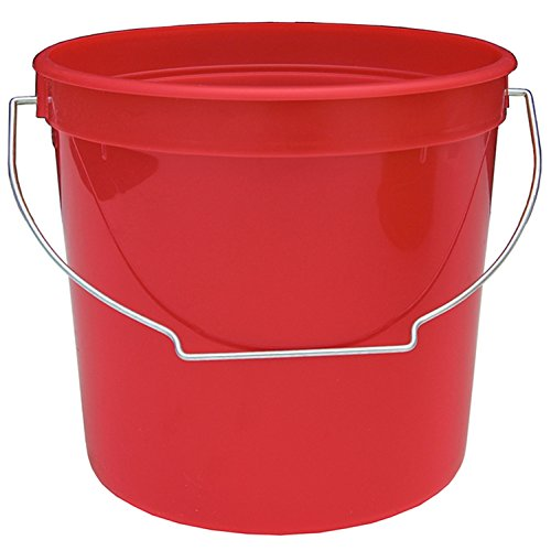 (Encore Reinforced Plastics 2.5-Quart Residential Bucket Home Office Classroom Utility Pail Red)