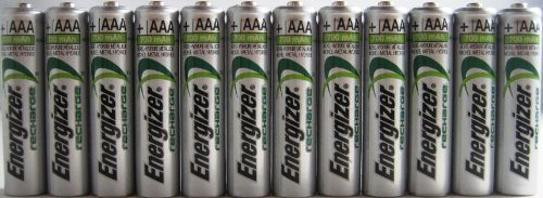12 x New Energizer AAA Rechargeable NiMH Battery 800 mAh 1.2V