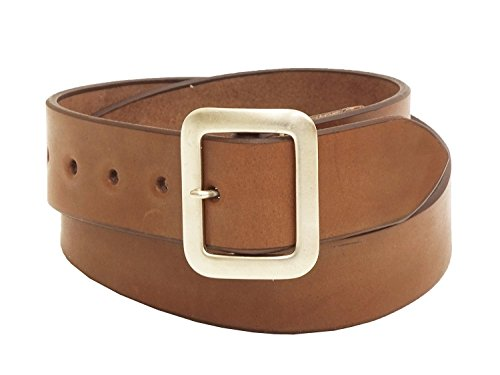 Sugar Cane Leather Belt SC02320 Men's Casual Garrison belt 38 Brown by Sugar Cane