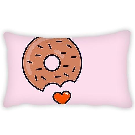 Poliéster Funda de almohada cute Cookie patrón cojín lumbar ...
