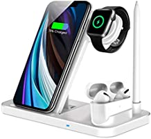 LECHLY Kabelloses Ladeger?t,4 in 1 Induktive ladestation für Watch,Airpods Pro