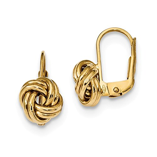 Jewelry All Earrings Fine Gold - 14k Yellow Gold Love Knot Leverback Earrings Lever Back Drop Dangle Fine Jewelry Gifts For Women For Her