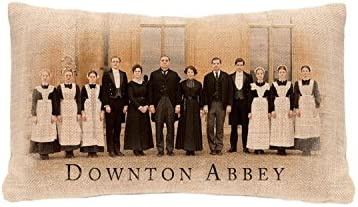 Heritage Lace 20 Downton Abbey Downstairs Cast Rectangular Throw Pillow – Polyester