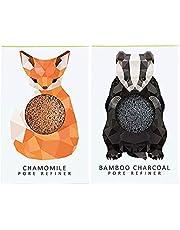 The Konjac Sponge Company Mini Pore Refiner Gift Set - Badger and Fox, (Pack of 2)