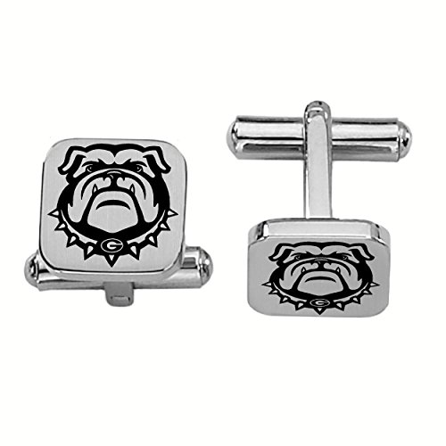 College Jewelry Georgia Bulldogs Stainless Steel Square Cufflinks by College Jewelry