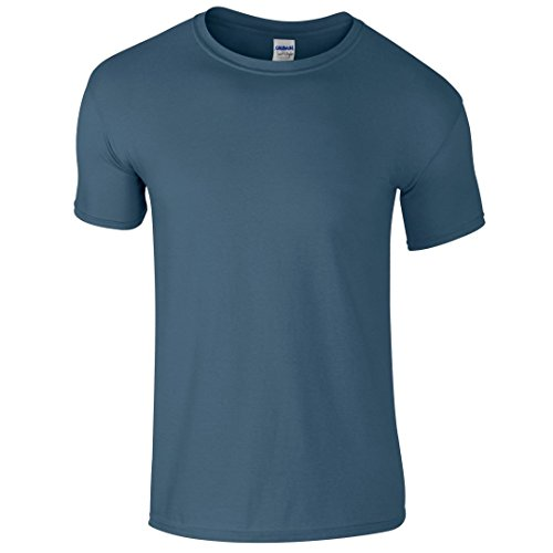Gildan SoftstyleTM adultos hilado y T-Shirt azul (Indigo Blue)