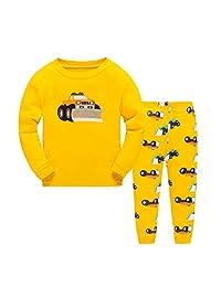 Star Picker Boys' Cotton Longsleeve 2 Pieces Pajama Set